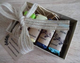 Natural Handmade Soap Sample Gift Set, 4 Testers bundle, Homemade Soaps, Goat Milk soap, Beer Soap, Choose any 4, gift box, gift for her