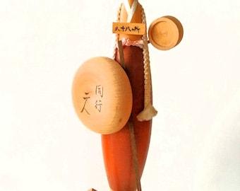 "kokeshi doll vintage ""Miss Pilgrim"""