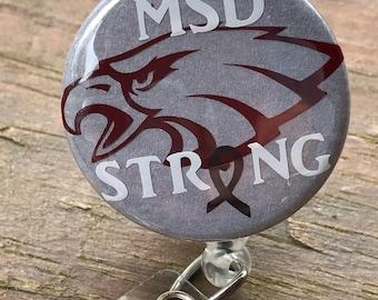 MSD strong, Msd highschool, Stoneman douglas, Msd, Msd eagles, Nurse badge reels, Badge reel nurse, Badge reel, Badge clip, Badge holder