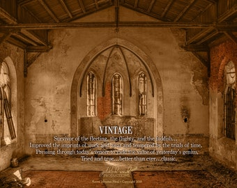 DIGITAL | Vintage | Wall Decor | Old Building | Old Church | Sanctuary
