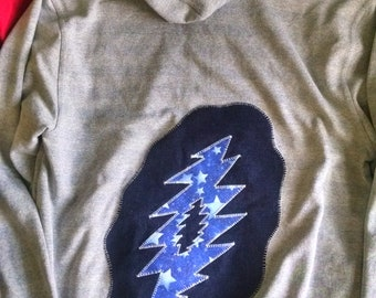 Grateful Dead Patch ~ Back Patch ~ Backpatch ~ Giant Patch ~ Grateful Dead Patches ~ One of a Kind Patches ~ Hoodie Patch ~ Iron On Patches