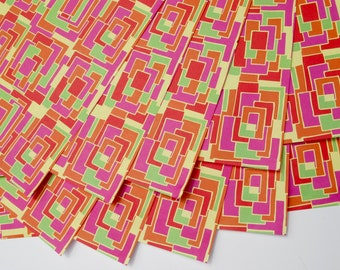 """10 sheets of Patty-O Park Wrapping Paper, 19x27"""",  in rich bright colors using vegetable inks on recycled paper 1.50 a sheet"""