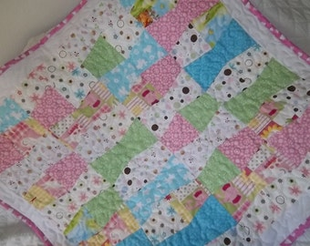 Easy Tumbler Quilt Pattern Tutorial  with Photos, Instant Download pdf