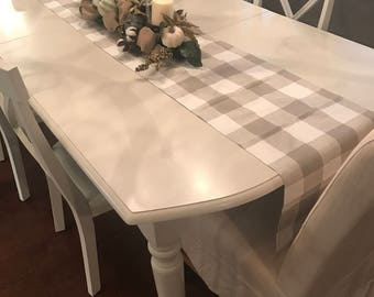 TAN TABLE RUNNER Plaid Buffalo Check Tan Table Runners Christmas Decorative  Wedding Holidays Table Runner Home Decor 48 60 72 84 96