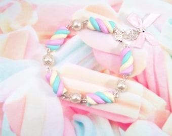 bracelet marshmallows pastel polymer clay
