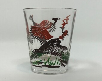 Pheasant Shot Glass Hunting Barware Sporting Wild Game Mancave Den