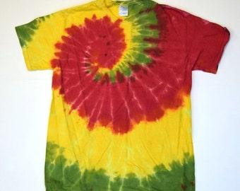 Rastafar-i ~ Spiral Tie Dye T-Shirt (Gildan Ultra Cotton Size M) (One of a Kind)