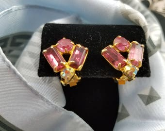 Sparkling & Bright Rhinestone Clip Earrings