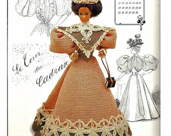 The Gibson Girl Collection of the Gay Nineties September Fashion Doll  Crochet Pattern  Annies Calendar Bed Doll Society 7709