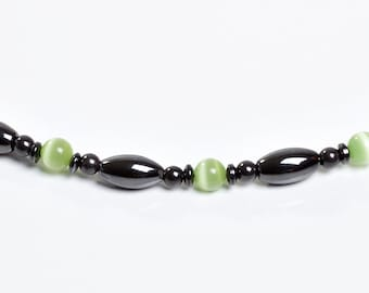 Green and Magnetite Necklace by Happy and Healthy Magnetic Therapy Jewelry