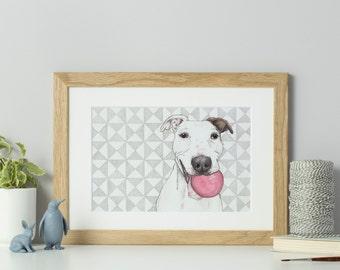 Custom pet portrait - dog portrait - cat portrait - personalised pet portrait - watercolour painting - pet portrait painting