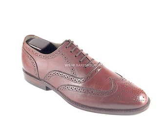 Handmade Brogue Shoes for Men. Leather Handcrafted Brogue Shoes.