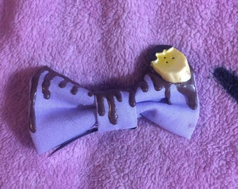 Chocolate Covered Banana Hair Clip