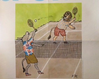 Collectible SPORTS Art Poster designed by Jane Byers-Bierhorst 1979