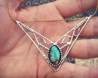 Turquoise Flying V Necklace