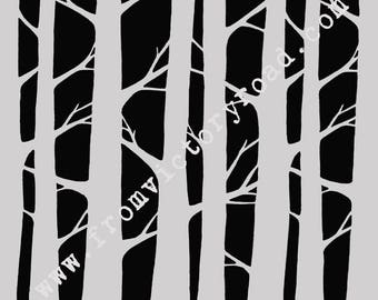 Simply Trees 6 or 12 inch stencil