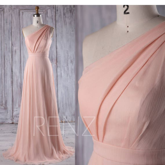 Bridesmaid Dress Peach Chiffon DressWedding DressOne