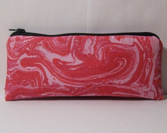 """Pipe Pouch, Psychedelic Pink Bag, Pipe Case, Pipe Bag, Glass Pipe Cozy, Padded Pipe Pouch, Zipper Bag, Trippy Bag, Smoke Bag - 7.5"""" LARGE"""