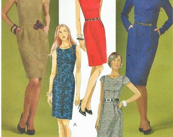 Womens Fashion Sheath Dress with Variations OOP McCalls Sewing Pattern M5927 Size 4 6 8 10 12 Bust 29 1/2 to 34 FF Sheath Dress Pattern