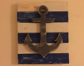 Anchor Wall Art Wood Hanging