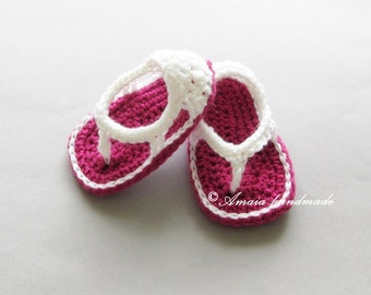 Baby girl sandals - Pink baby sandals - Crochet baby shoes for newborn to 12 months, Great as an baby shower gift for girl