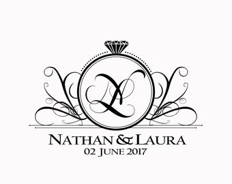 Custom Wedding Event Monogram Names Design Personalized Logo