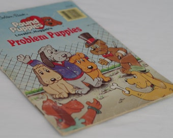 Little Golden Book - Pound Puppies. 1980s retro vintage kids book. Old childrens books. Picture book for child. Gift for dog lover boy girl
