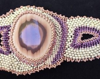Free form peyote bracelet