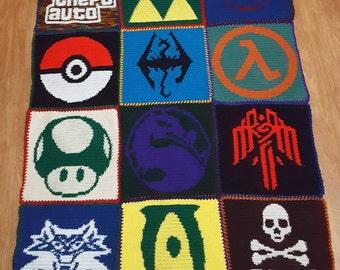 Crochet Video Game Blanket Pattern