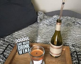 Twine Wine Bottle Vase