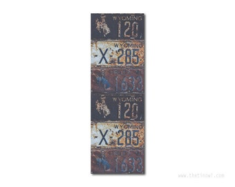 Bookmark Wyoming License Plates   Stocking Stuffer   Gifts Under 5   Book Lover   Wyoming Pride