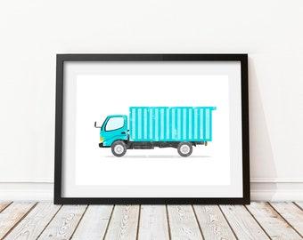 Dumper truck print • Dump truck wall decor • Construction vehicle decor • Boom truck • Truck print wall • Truck print • Truck wall art