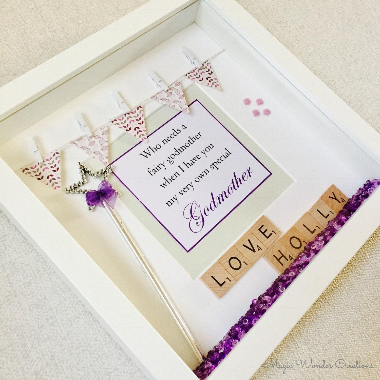 Godmother Frame, Personalised Godmother Gift, Happy Godmother Frame ...