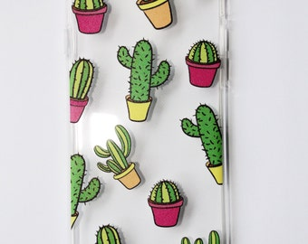 Colourful Cactus iPhone 6 and iPhone 7 Case (Soft)