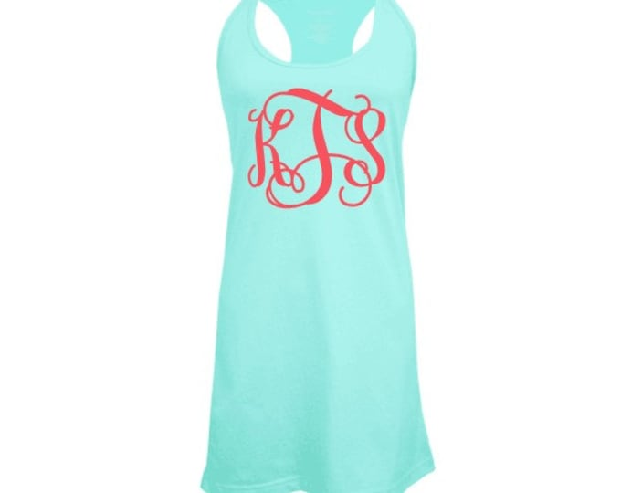 Monogrammed Swimsuit Coverup, Monogram Tank Dress, Bridesmaid Gifts, Monogrammed Gifts, Monogrammed Coverup, Bachelorette Party