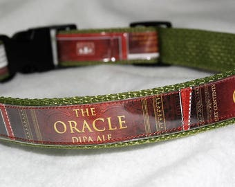Adjustable Dog Collar from recycled Bell's Brewery The Oracle DIPA Ale Beer Labels