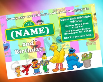 Sesame Street Birthday Invite