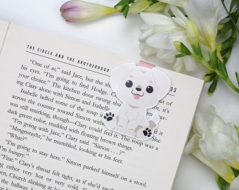 Puppy labrador - Magnetic bookmark || dog, happy planner, literary gift, paper clips, book lover, planner bookmark, cute animals