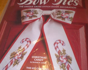 Bow Ties:  Christmas Candy Cross Stitch Kit