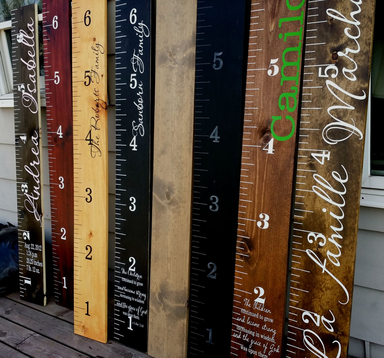 Wooden height chart Childrens Growth Chart Giant Wooden Growth