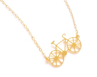 Tiny Bicycle Necklace, Black Friday, Sale, Petit Bicycle, gold/ silver Bicycle, bicycle jewelry,  Cycling Necklace, Minimalist Necklace
