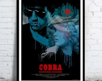 COBRA - alternative movie poster / print [ Sylvester Stallone Brigitte Nielsen ] 1986