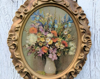 vintage Rembrandt lithograph on ornate frame