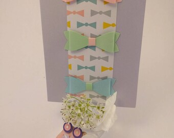 scrapbooking card-made with three pretty bows