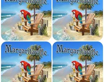 Jimmy Buffett Margaritaville Drink Coasters
