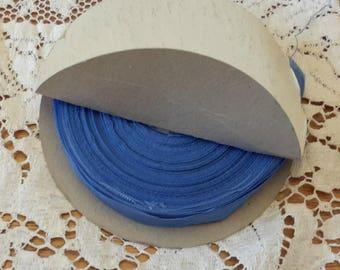 sky blue HUG SNUG seam binding vintage ribbon embellishment 90 yards spool