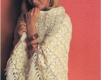 Crochet Elegant Shawl Pattern/Crochet Pattern pdf