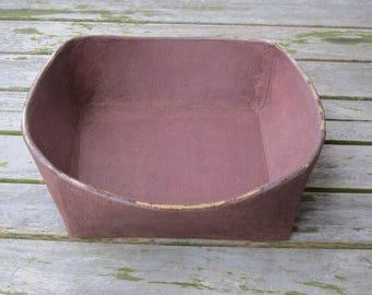 Fruit bowl in red stoneware