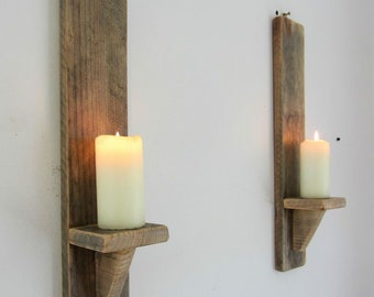 Light Walnut Wal Sconce, Wall Sconces, SET Of 2, Gift, Sconces,