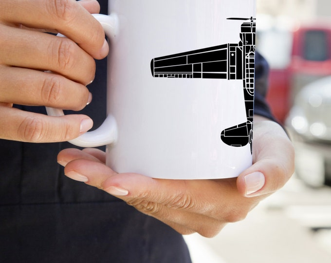 KillerBeeMoto:    North American T-6 Texan Airplane Coffee Mug